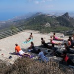 Yoga on the mountains